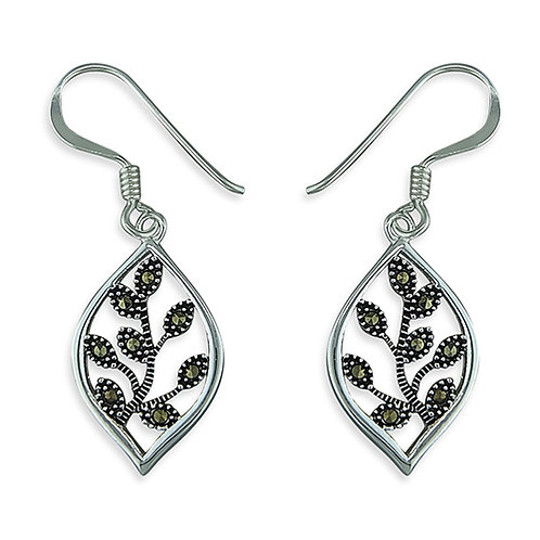 Marcasite Branches Drops