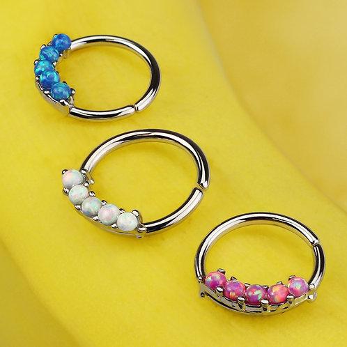 5 Opal Twist Ring
