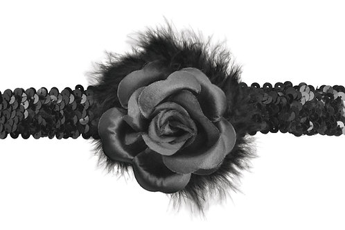 Flapper Headband with Rose