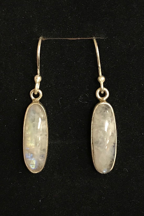 Thin Oval Labradorite Drops