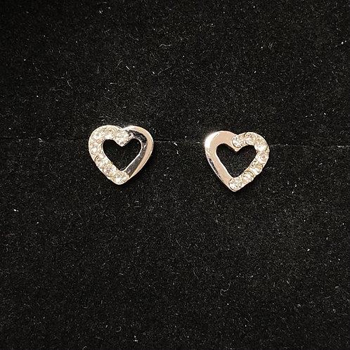 C.Z open heart studs