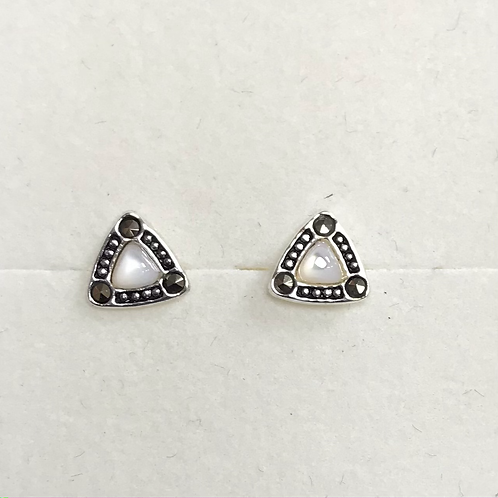 Turquoise, M.O.P or Onyx Triangle Studs