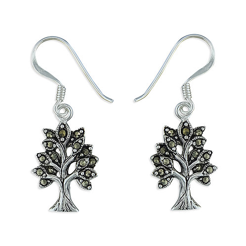 Marcasite Tree of Life Drops
