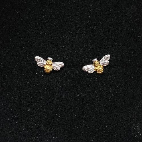 Two tone bee studs