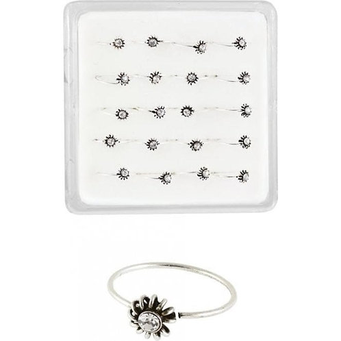 Jewelled sunflower Nose Ring