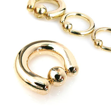 Gold Titanium Ball Closure Ring