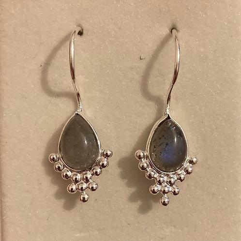 Labradorite fixed drop earrings