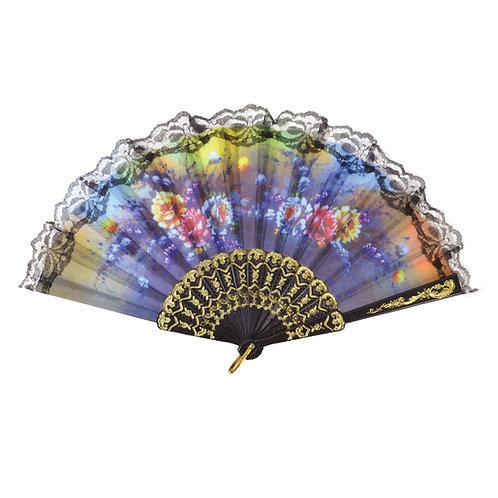 Floral Fan, 1920s, flapper style