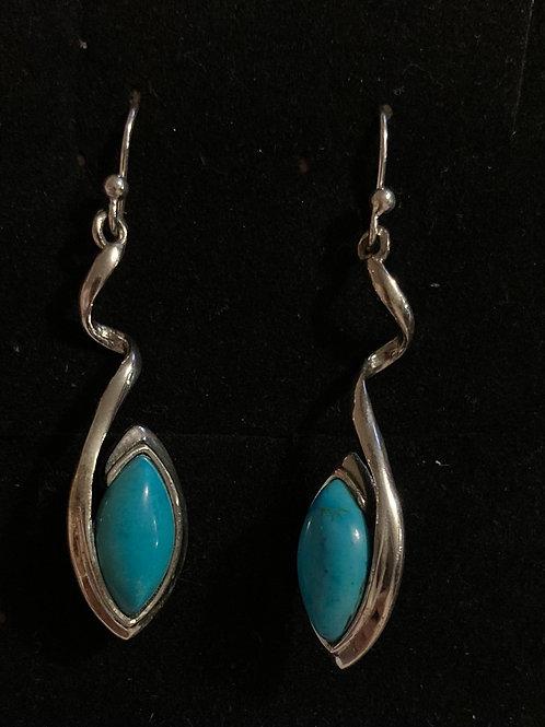 Turquoise twist earrings