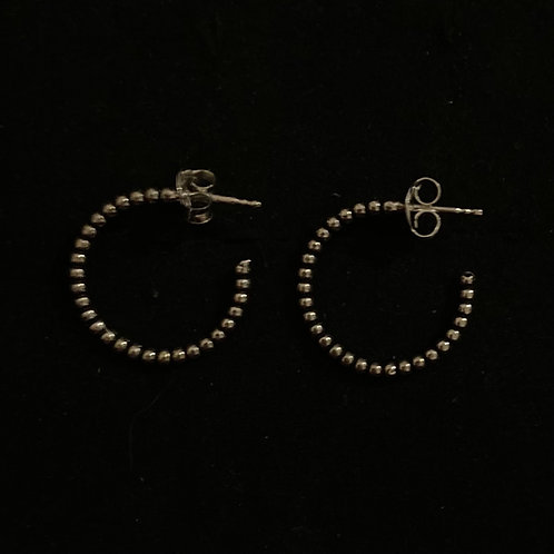 Bubble stud hoops