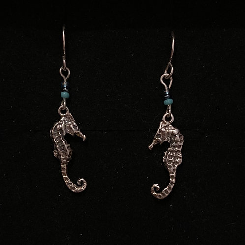 Sea horse dangly earrings