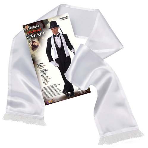 White Gangster Scarf