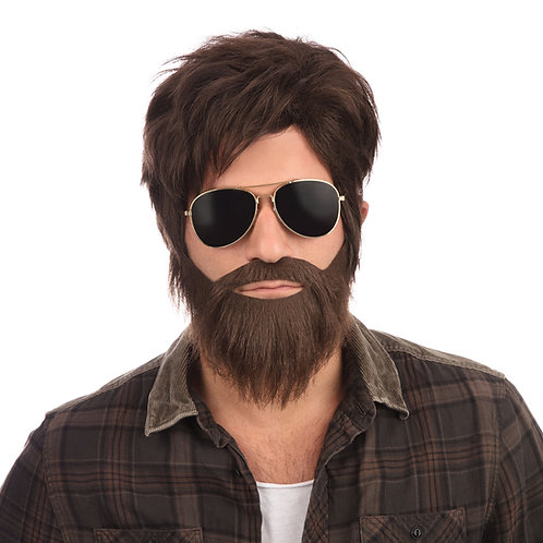 Vegas vacation wig and beard set