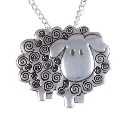 Swirly Sheep Necklace