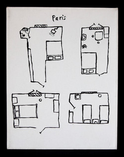 Paris: Hotel Rooms from memory