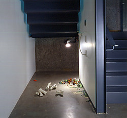 Under stairs, CAG, Vancouver.