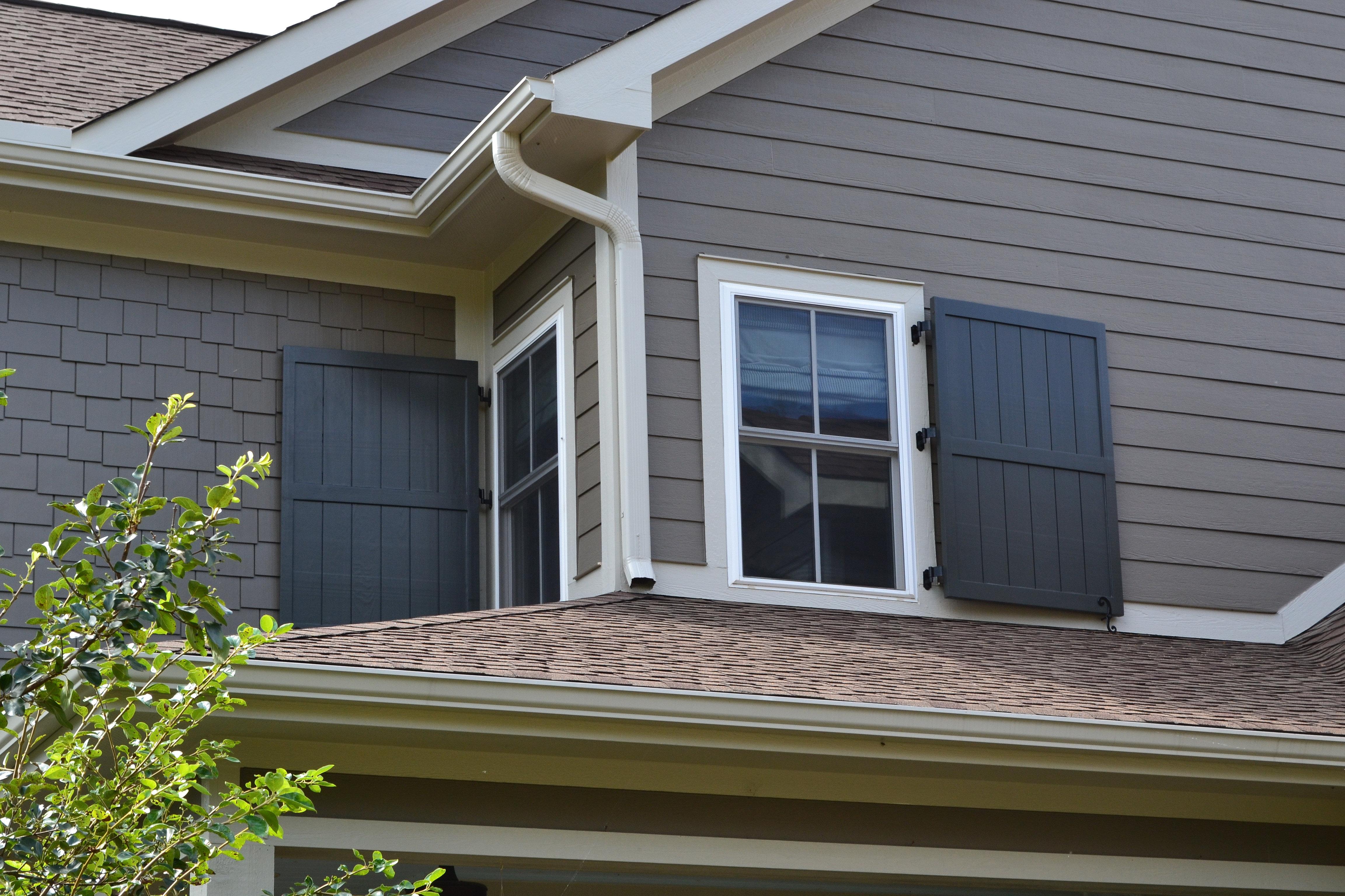 Elite plantation shutters charlotte greenville sc - Framed board and batten exterior shutters ...