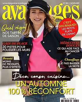 Parution magazine Avantages Novembre 202