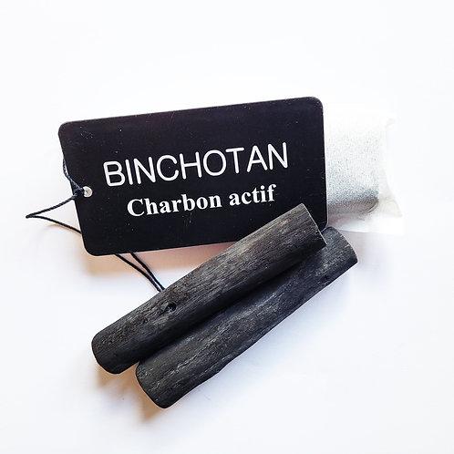 binchotan charbon actif pour filtrer eau des gourdes