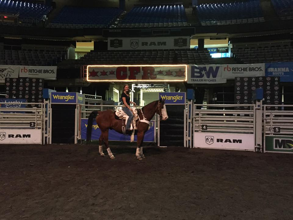 Emily at the Canadian Finals Rodeo