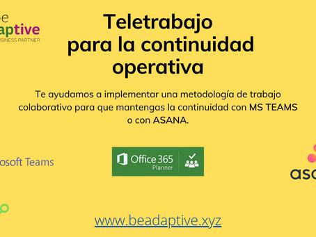 Continuidad Operativa con MS TEAMS y ASANA