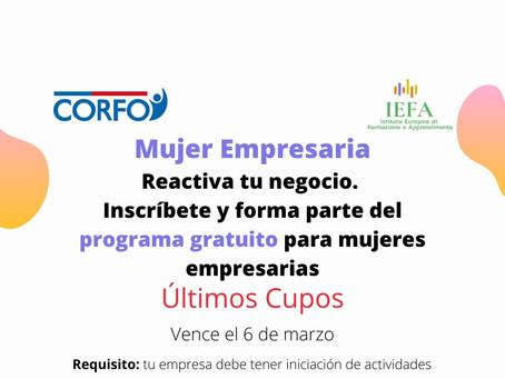 Postula al Programa para Mujeres Empresarias de CORFO