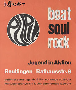 Pupil Plakat 1969 Reutlingen, DJ Dirndl, Kulturnacht 2017 Reutlingen, Ralf Knödler, disco, eldirndl,