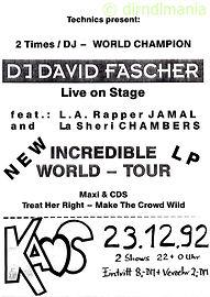 Disco, DMC, DJ David Fascher, Wembley Arena 1990, London, Kaos, Ralf Knödler, DJ Dirndl,