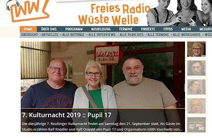 Wüste Welle Tübingen 6.9.19, #pupil17djkult, Reutlingen, #Kulturnacht19,