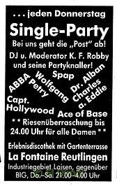 Kaos, disco, reutlingen, DJ Dirndl, Ralf Knödler, pupil 17, la fontaine reutlingen,