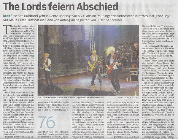 The Lords, Südwestpresse, Reutlinger Nachrichten, #pupil17djkult,