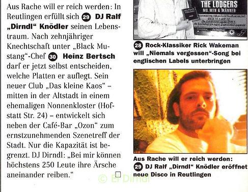 DJ DIRNDL, Ralf Knödler, Prinz Stuttgart, disco, KAOS Reutlingen, Pupil17,