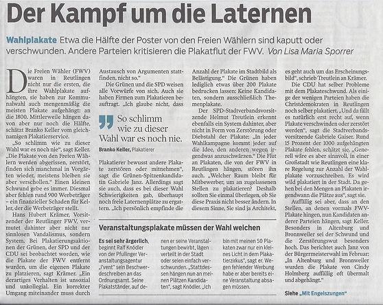 SchwäbischesTagblatt, Pop & Wave, #Reutlingen, #Kopfhörerpartyreutlingen, #kopfhörerparty, #plakatieropfer, pupil17djkult, #pupil17, partyraum reutlingen,