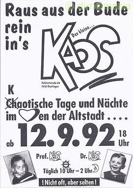 Kaos, Disco, Ralf Knödler, DJ Dirndl, Reutlingen, Eröffnung 1992,