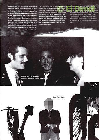 Kaos, Disco, Reutlingen, Black Mustang, Daddes Gaiser, Ralf Knödler, DJ Dirndl, Heinz Bertsch, Pupil17,
