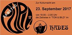 facebook, Veranstaltung auf facebook, Pupil17, Hades Reutlingen, Kulturnacht Reutlingen 2017,
