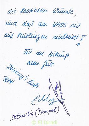 Kaos, Disco, Ralf Knödler, DJ Dirndl, Reutlingen, Jimmy's Boots, Glückwünsche Eröffnung 1992,