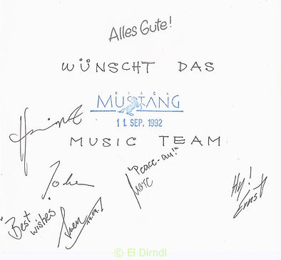 Kaos, Disco, Ralf Knödler, DJ Dirndl, Reutlingen, Black Mustang, Glückwünsche,