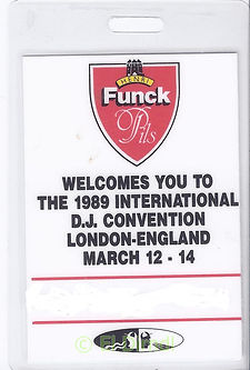 DMC 1989 International DJ Convention London England