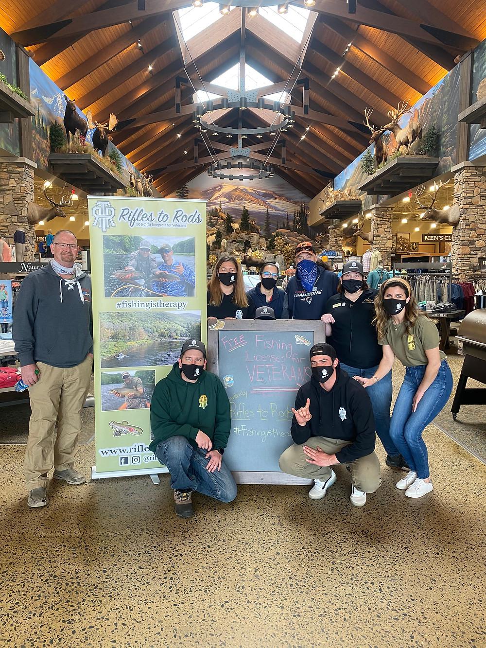 Volunteers at Cabelas Hudson Massachusetts