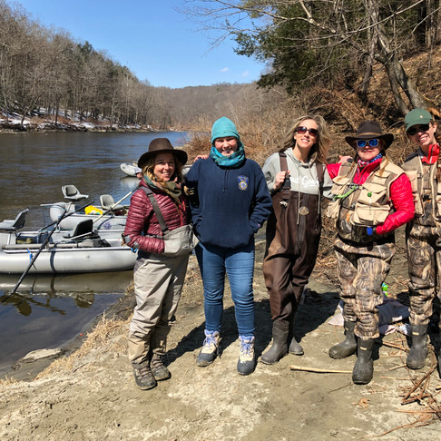 Bad A** Female Veterans, First Day of Spring and Fishing