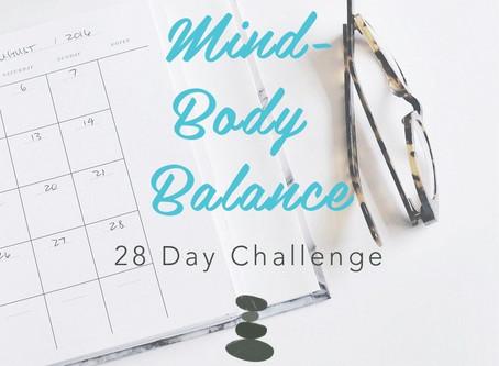 28 Day Challenge - mind-body balance