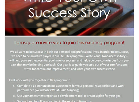 Write your own success story - Let's plan now