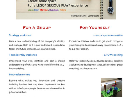 Create some space for a LEGO® Serious Play®