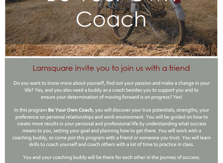 Be Your Own Coach Workshop