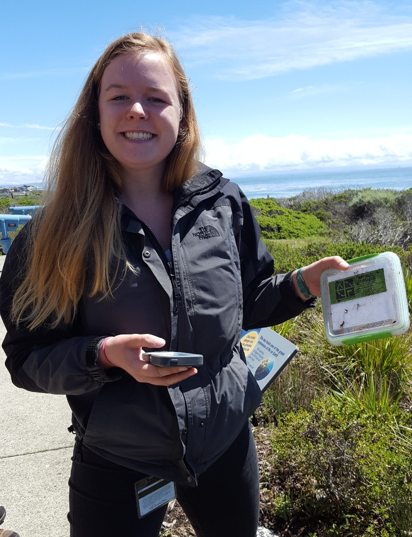 finding a secret life of larval fish geocache