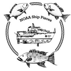 NOAA Ship Pisces shirt design