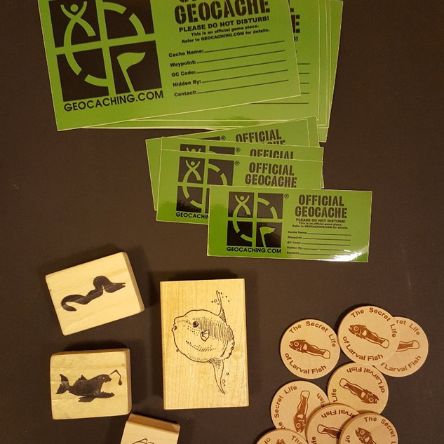 Cache stamps, stickers, and coins