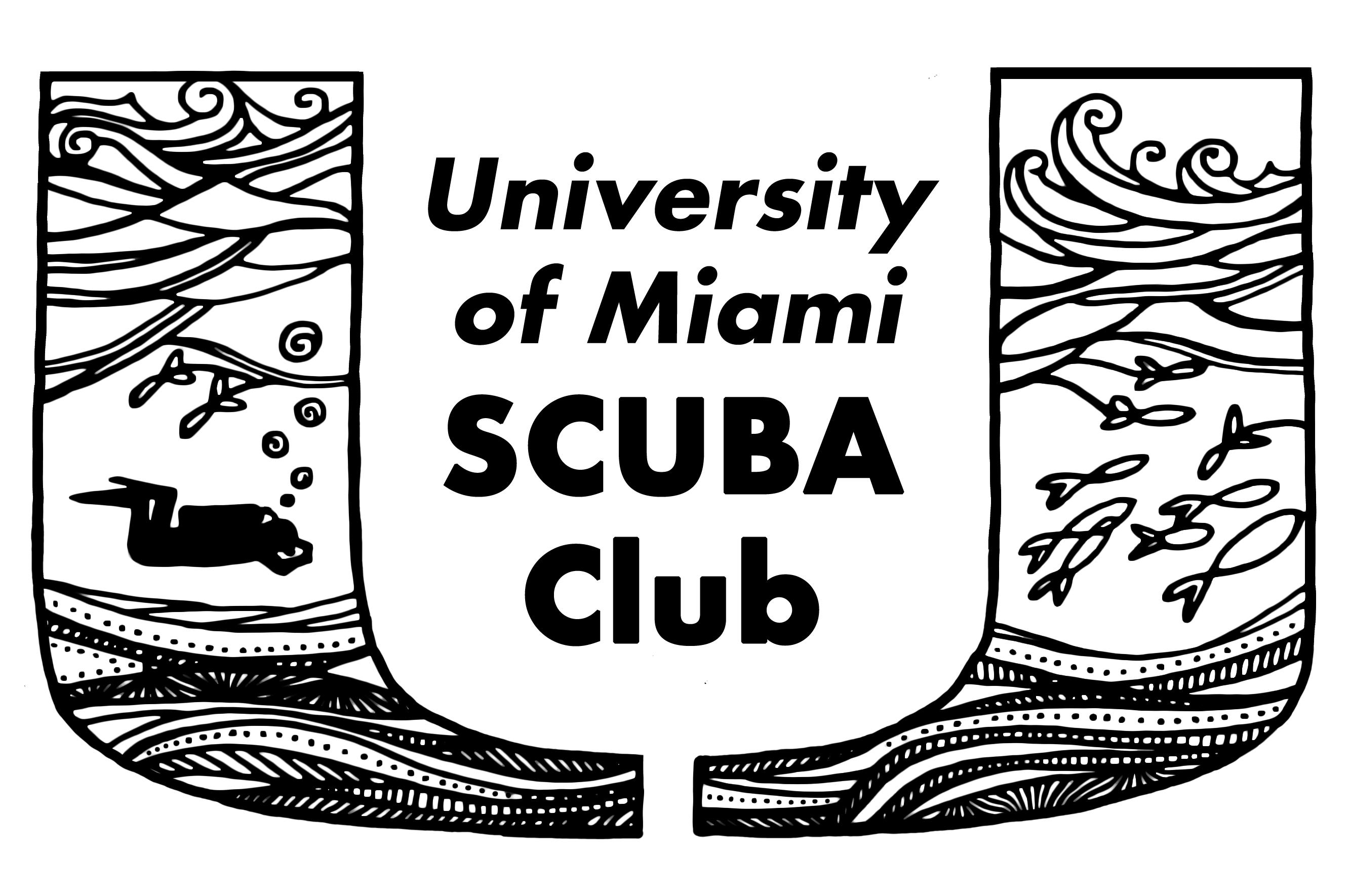 University of Miami SCUBA sticker