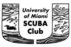 University of Miami SCUBA sticker